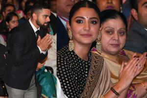 Wife Anushka & Mom Saroj Cheer as Virat Kohli Receives Khel Ratna