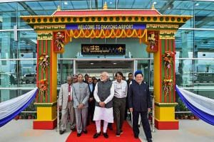 PM Narendra Modi Inaugurates Sikkim's First Airport at Pakyong