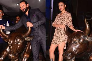 Saif Ali Khan, Radhika Apte Launch 'Baazaar' Trailer at BSE; See Pics