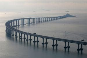 PICS: See World's Longest Sea-Crossing Bridge Linking Hong Kong-China