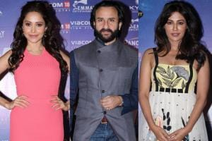 Baazaar Success Party: Saif Parties With Nushrat & Chitrangada