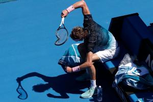 Australian Open: Alexander Zverev Destroys Racket in Violent Meltdown