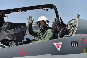 Indian Army Chief General Bipin Rawat Flies Tejas at Aero India