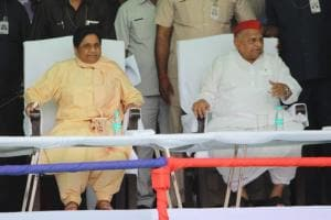 Mulayam-Mayawati Share Stage After 24 Years at Mainpuri Rally