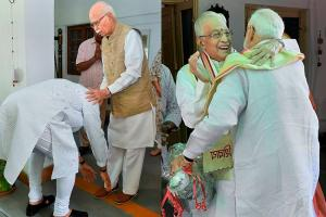 PM Modi Seeks Blessings from LK Advani, MM Joshi After Historical Victory