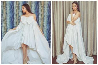 d8a3f7257ca Malaika Arora Oozes Elegance in a Stunning White Bow Dress - News18