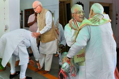 PICS: PM Modi Seeks Blessings from LK Advani, MM Joshi After Historical Victory