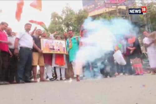 Celebrations Begin As BJP Gears Up For Comeback