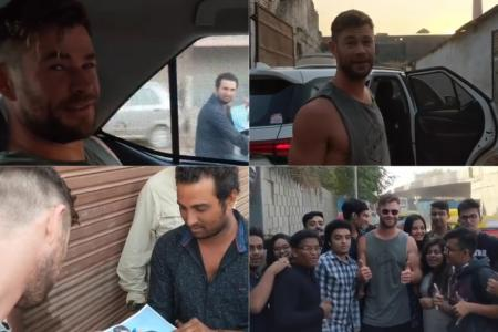 Chris Hemsworth Chased by Indian fan on Bike, Watch Viral Video