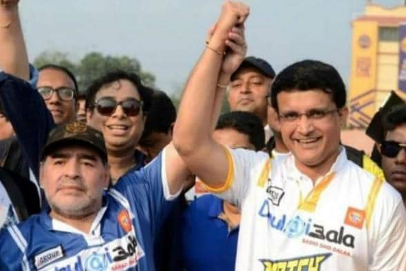 Diego Maradona Passes Away; Sourav Ganguly, Suresh Raina & Other Cricketers Pay Rich Tributes