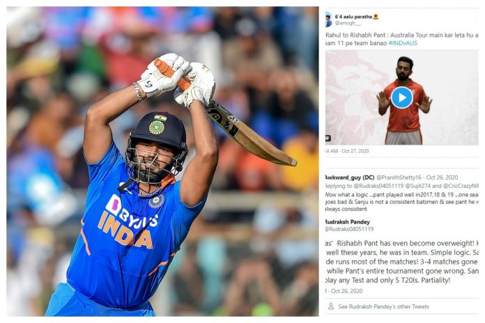 India Vs Australia Squad Fans Divided After Rishabh Pant Gets Dropped From Odi T20i Teams For Australia Tour