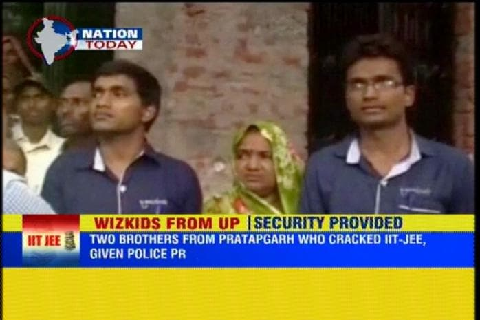 Daily wager's sons who cracked IIT-JEE get police protection after