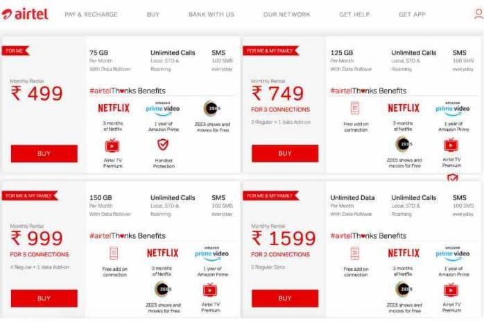 Jio Effect: Airtel Makes Big Changes to Postpaid Plans