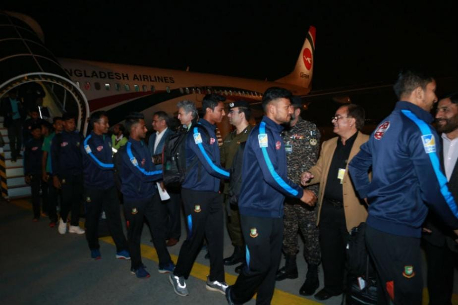Bangladesh Team Arrives in Pakistan Amidst Tight Security