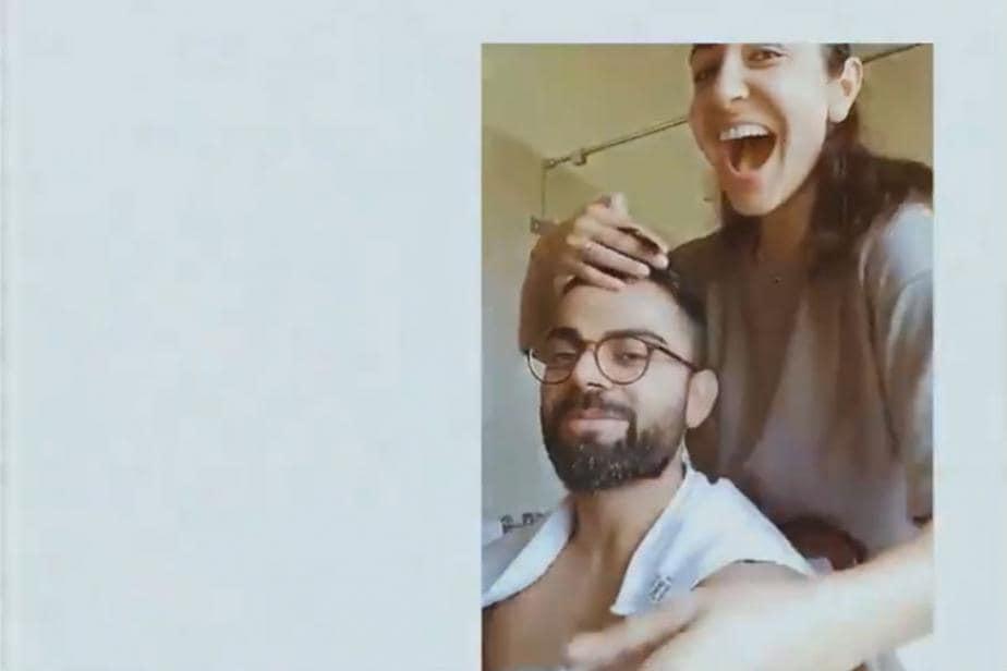 Virat Kohli Gets Haircut from Anushka Sharma While in Lockdown