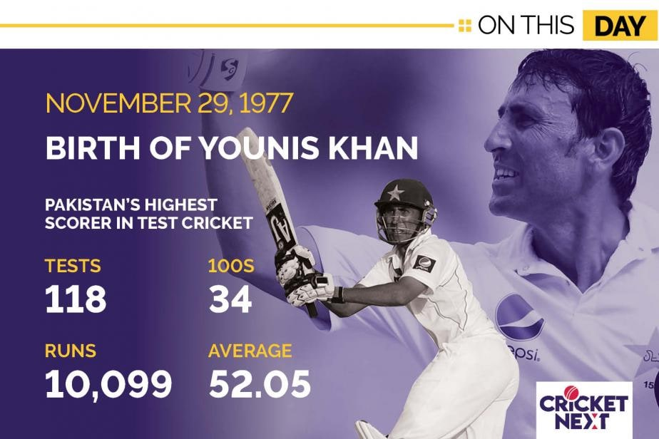 On This Day, November 29 1977: Birth of Younis Khan - Pakistan's Highest Run-Getter in Tests