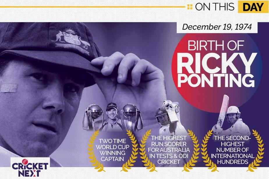 On This Day - December 19, 1974: Birth of Ricky Ponting