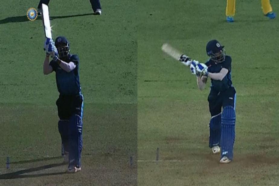 Watch: Baroda Batsman Vishnu Solanki Hits Two Helicopter Shots, Twitter Goes Crazy