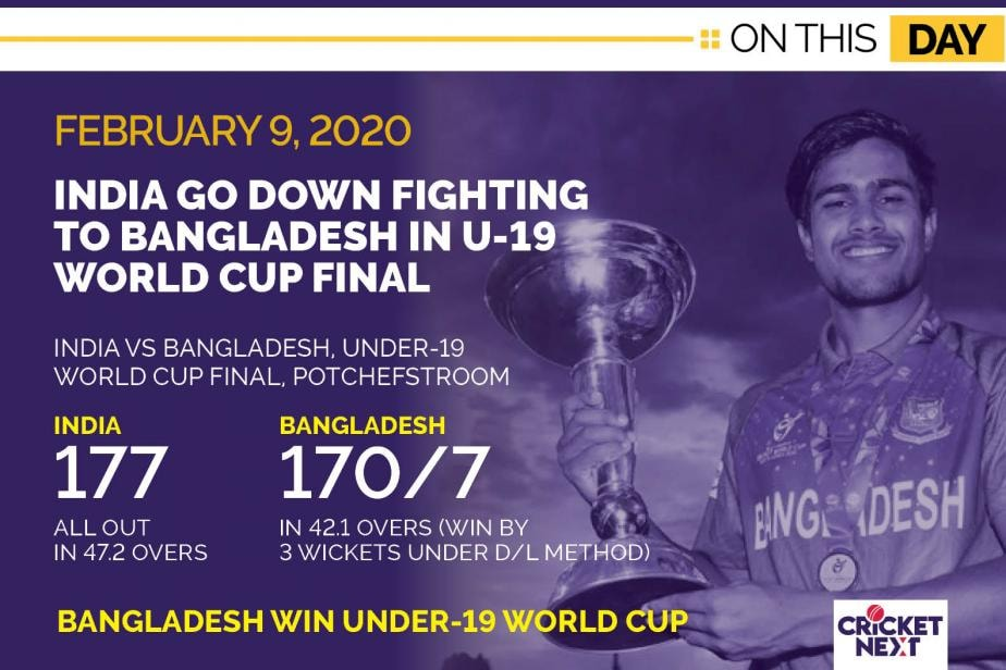On This Day - February 9, 2020: Bangladesh Upset India To Lift Under-19 World Cup