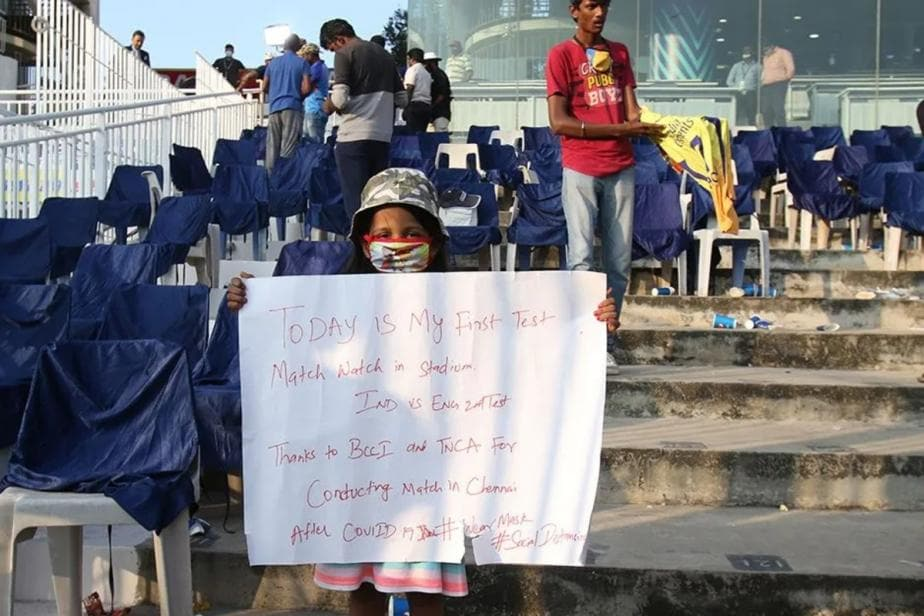 India vs England: Return of Crowds a Welcome Sight But Lack of Social Distancing & Masks Leaves Room for Concern