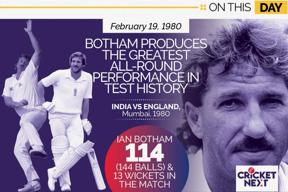 On This Day - February 19, 1980 - Ian Botham Produces The Greatest All-Round Performance in Test History