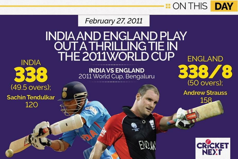 On This Day - February 27, 2011: India and England Play Out A Thrilling Tie In The 2011 World Cup