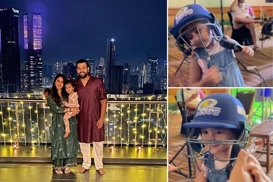 IPL 2021: Rohit Sharma's Daughter Samaira Plays A 'Mini Pull-Shot' in an Adorable Video | WATCH