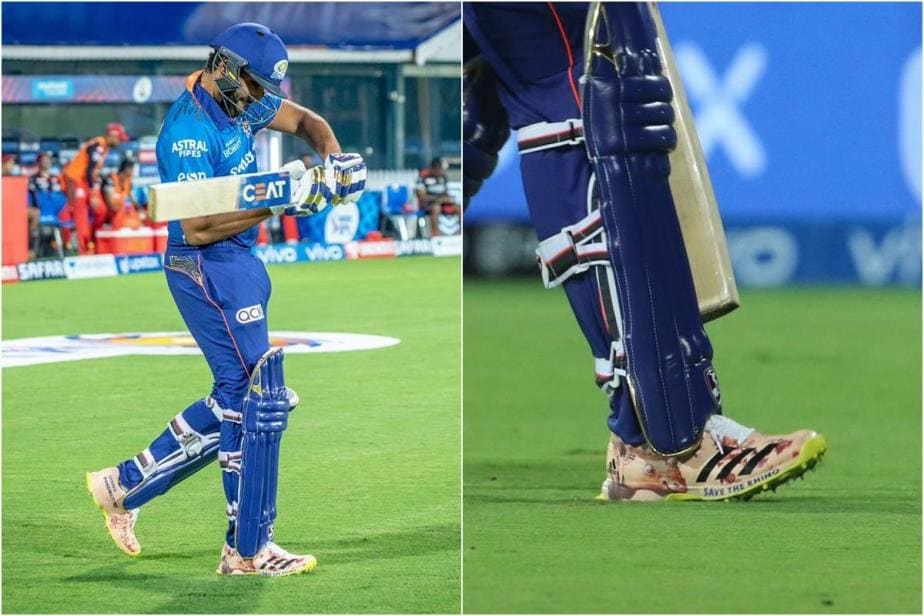 IPL 2021: Rohit Sharma Wears 'Save The Rhino' Shoes; Kevin Pietersen, Abhishek Bachchan React