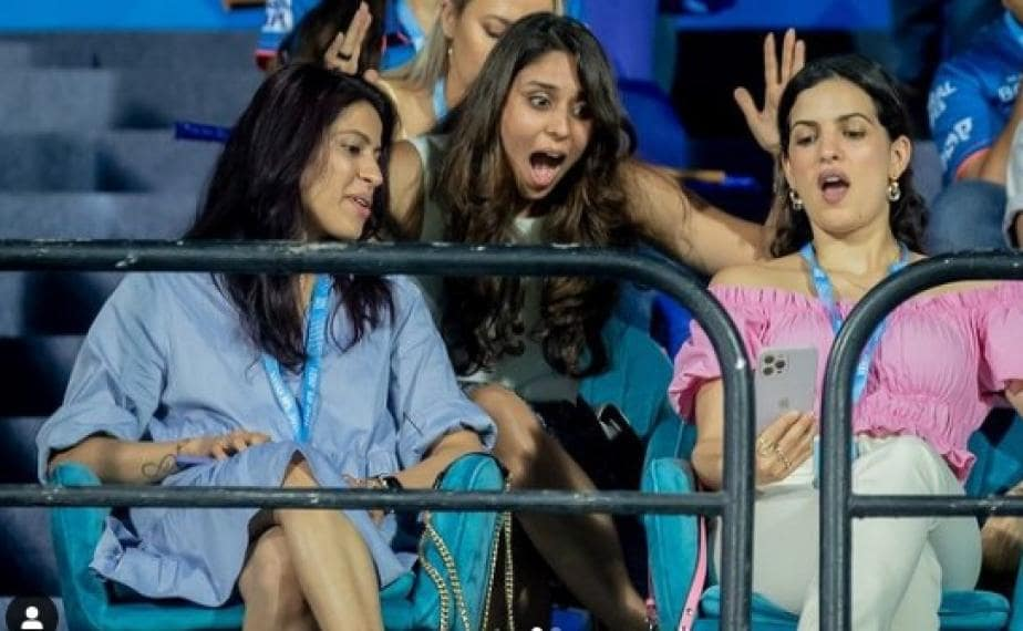 IPL 2021: Picture of Natasa Stankovic & Ritika Sajdeh Looking Stunned During KKR vs MI Goes Viral - Here's Why
