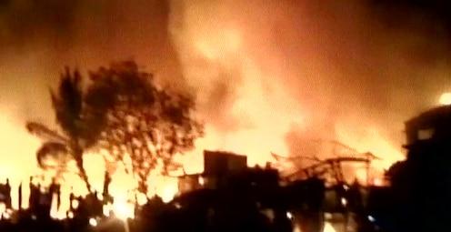 मुंबईतील सायनमधील झोपडपट्टीला लागलेली आग आटोक्यात