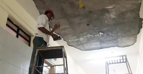 साईबाबा रुग्णालयातील छताचे प्लास्टर कोसळले