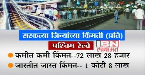 मुंबई : रेल्वे स्टेशनवरील 'एस्क्लेटर'च्या किंमतीत असाही 'चढउतार' !