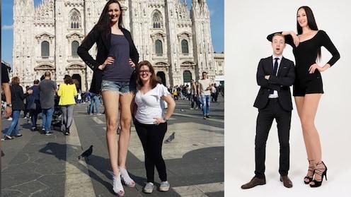 अबब, 4.35 फुटाचे पाय अन् उंची फक्त 6 फूट 9 इंच !, माॅडेलची  गिनीज रेकाॅर्डला गवसणी