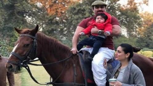 पप्पांसोबत निघाली तैमूरची घोडेस्वारी!