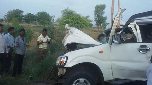 नगर-सोलापूर महामार्गावर स्कॉर्पियो आणि ट्रकचा भीषण अपघात, 5 जण ठार