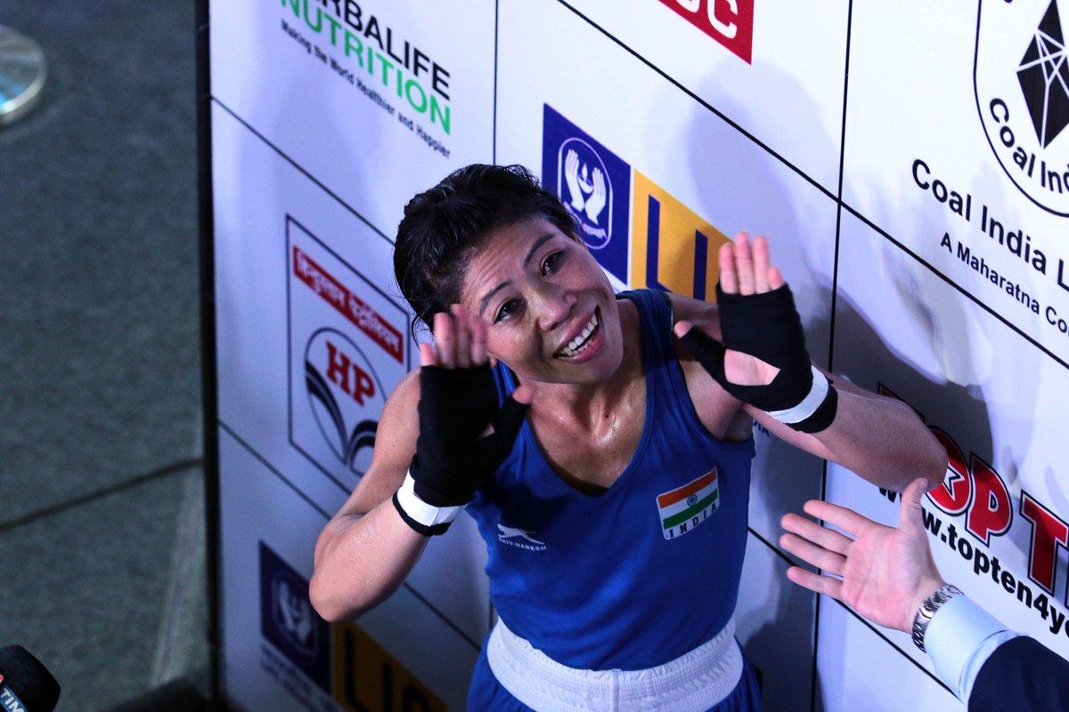 मेरीकोमने आतापर्यंत वर्ल्ड चॅम्पियनशिपमध्ये पाचवेळा सुवर्णपदक पटकावले आहे.