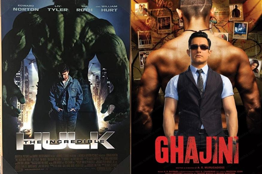 आमिर खानचा गजनी चित्रपट बॉक्स ऑफिसवर गाजला होता. सिनेमाच्या लूकची सर्वत्र चर्चा होती. तसेच सिनेमाचं पोस्टरदेखील चर्चेत आलं होतं. गजनी सिनेमाचं पोस्टरसुद्धा अमेरिकेच्या दि इंक्रिडेबल हल्क या पोस्टरच्या कॉपीतून करण्यात आलं आहे