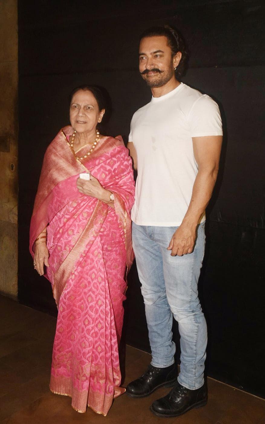 आमिर खान आणि झिनत हुसैन (फोटो- योगेन शहा)