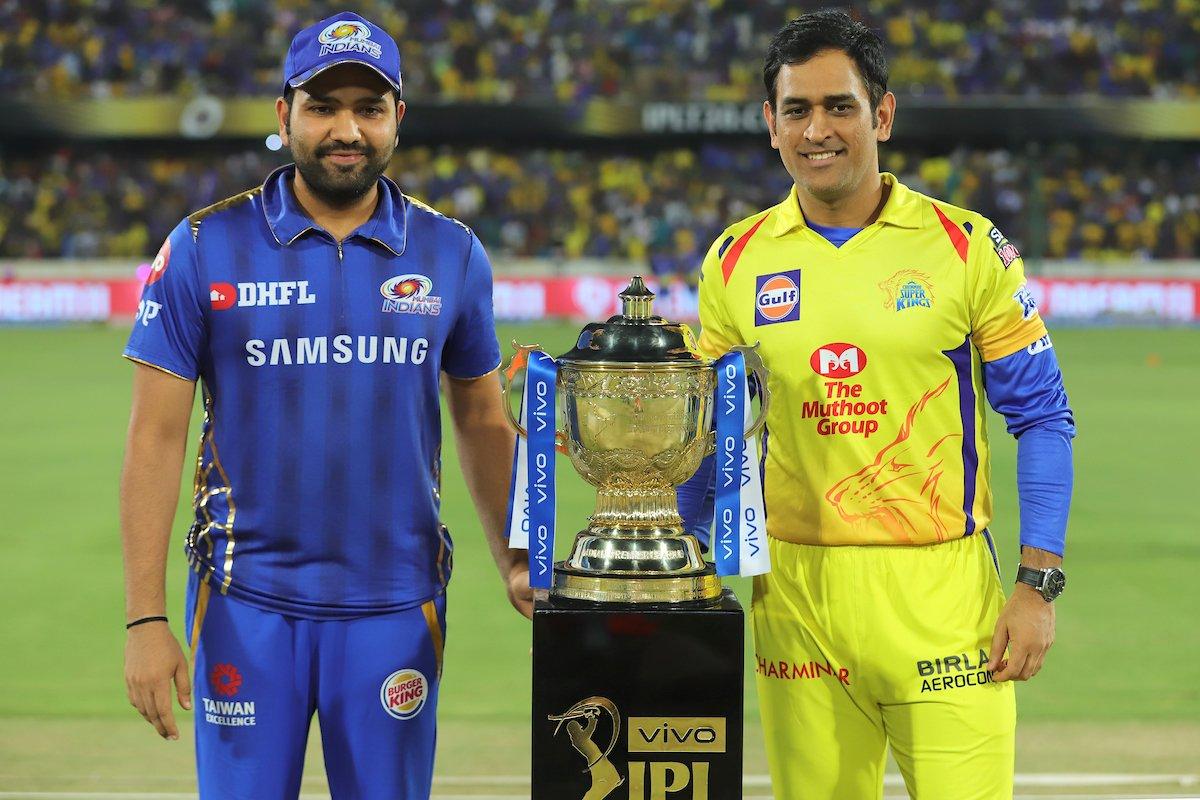 आयपीएल 2019चा अंतिम सामना चेन्नई आणि मुंबई यांच्यात होत असून मुंबईनं टॉस जिंकत प्रथम फलंदाजीचा निर्णय घेतला. हैदरबादच्या राजीव गांधी स्टेडियमवर हा सामना होत आहे. (PC-IPL)