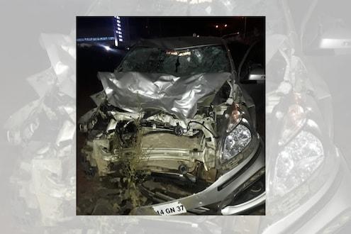 चाकणमध्ये कारची दुचाकीला जोरदार धडक, 5 जणांचा जागीच मृत्यू