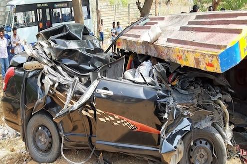 भीषण अपघातात एकाच कुटुंबातील 7 जणांचा मृत्यू, गाडी कापून मृतदेह काढले बाहेर