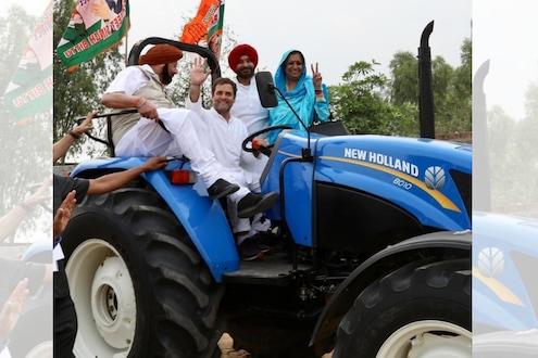 VIDEO : राहुल गांधी काँग्रेस नेत्यांना घेऊन जेव्हा ट्रॅक्टर चालवतात!