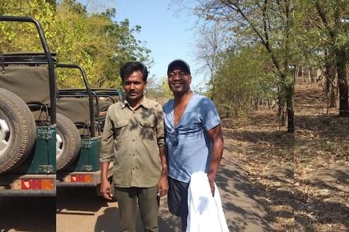 क्रिकेटच्या मैदानातून ब्रायन लारा पोहचला थेट ताडोबाच्या जंगलात, फोटो व्हायरल