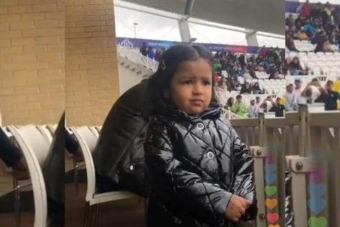 IND vs NZ : सामना रद्द झाल्यामुळं चक्क रडली झिवा, फोटो व्हायरल