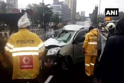 पावसामुळे मुंबईत भीषण अपघात; ट्रक, कारच्या धडकेत एकाचा जागीच मृत्यू 5 जखमी