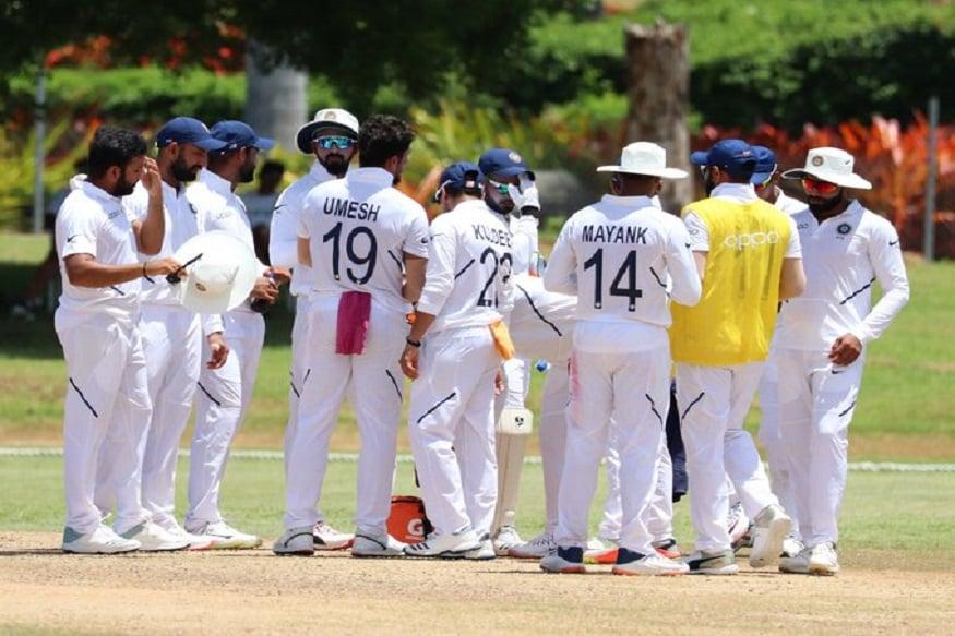 विंडीजविरुद्धच्या पहिल्या कसोटीत भारतानं पहिल्या डावात 297 धावा केल्या. त्यानंतर विंडीजला दुसऱ्या दिवसअखेर 8 बाद 189 धावांपर्यंत मजल मारता आली.