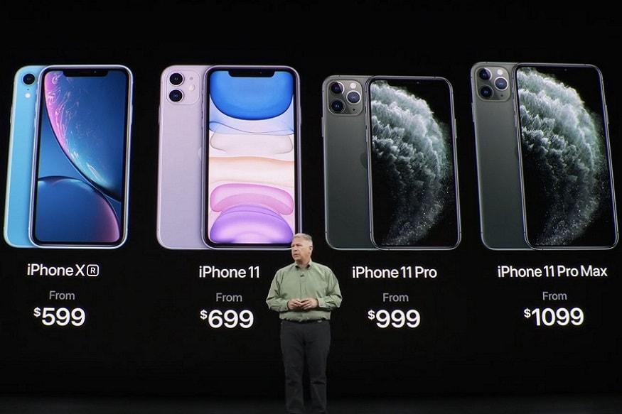 भारतात आयफोन 11 ची किंमत 64,900 रुपये असेल तर iPhone11 Pro 99,900 रुपये आणि Pro Max ची किंमत 1,09,900 इतकी असणार आहे.