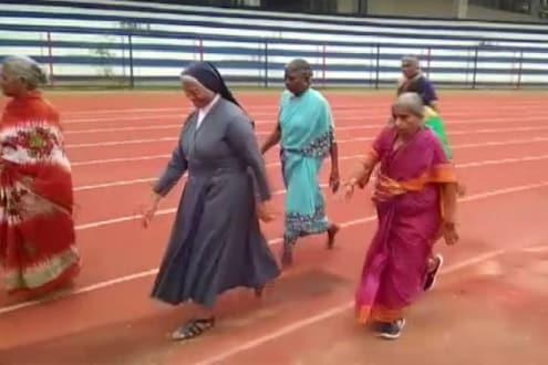 उतार वयात मुलांनी घराबाहेर काढलं, हार न मानता आजीबाईंनी जिंकली 100 मीटर वॉक रेस
