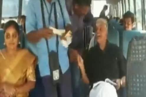 उधारीचा मंत्रिमहोदयांना फटका, पंपचालकाने पेट्रोल न दिल्यानं बसने प्रवास करण्याची वेळ; पाहा VIDEO