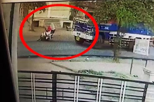 ट्रकला ओव्हरटेक करून स्कुटी पुढे काढली, पुढे जे घडलं..; अंगावर शहारे आणणारा VIDEO